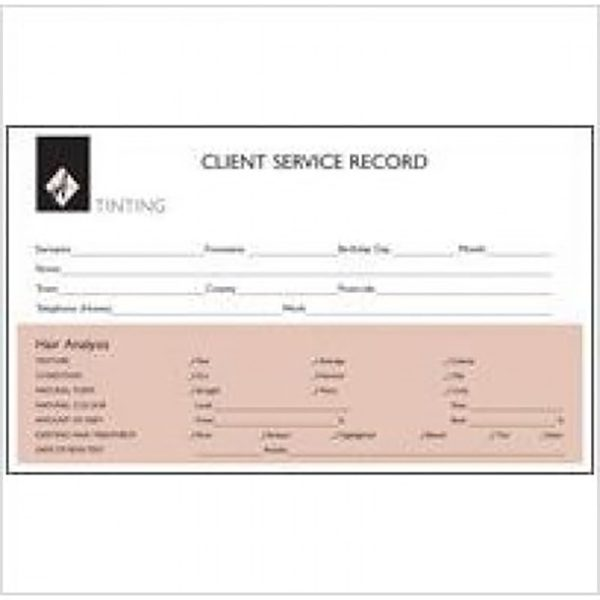 Agenda Body Treatment Record Card
