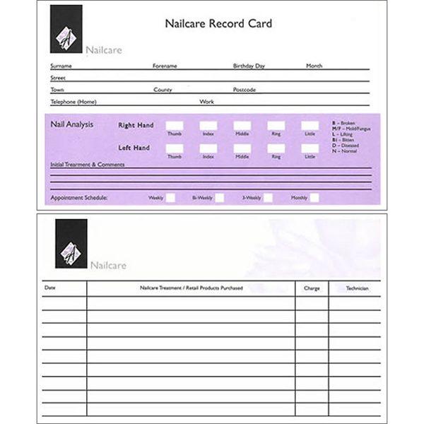 Nail Record Card