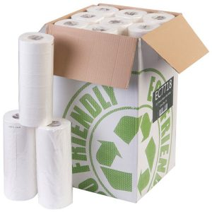 Box of White 10 inch Wiper Head Roll