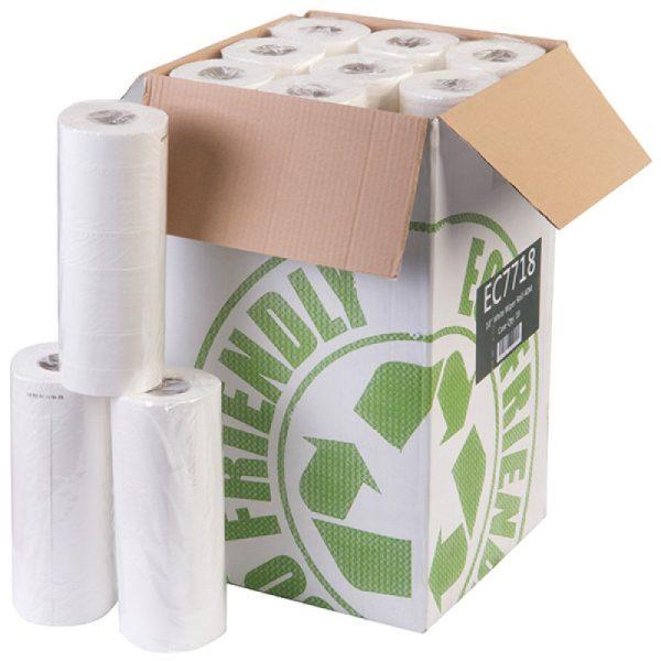 Box of White 10 inch Wiper Head Roll