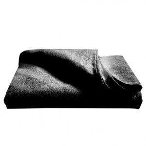 Crown Black Towel