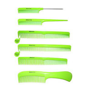 Denman Lime Green Precission Comb