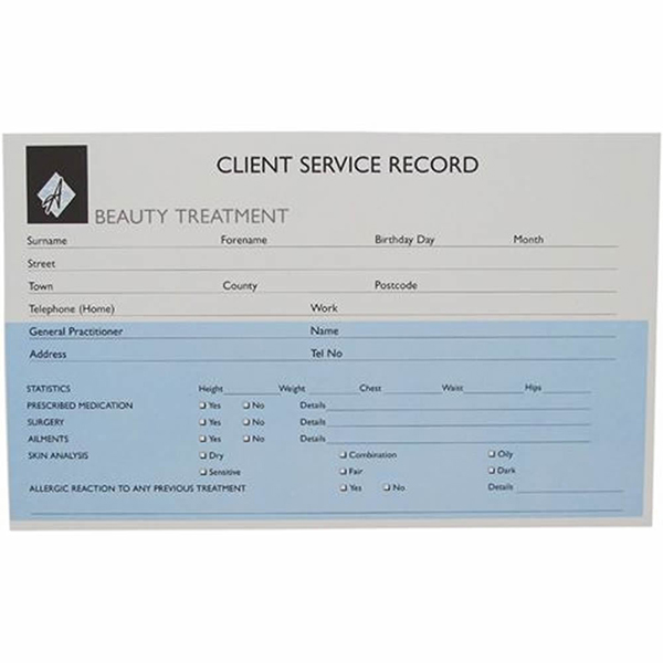 Beauty Record Cards