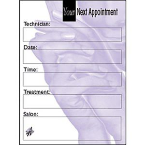 Agenda Nail Appointment Cards
