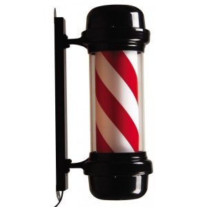 Rotating Barber Pole (black or silver)