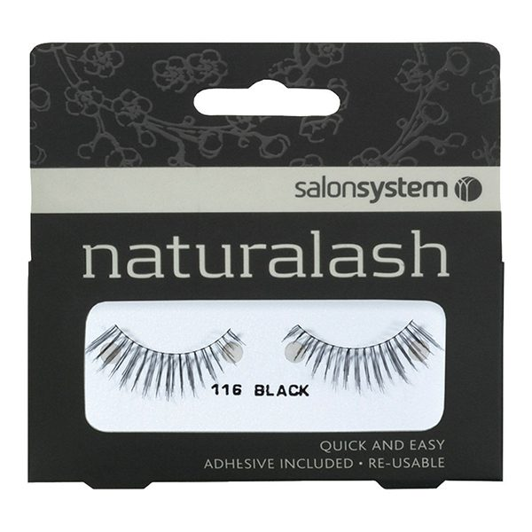 8c8bf7c8326 Salon System Naturalash Strip Lashes - 116 Black   The Hair And ...