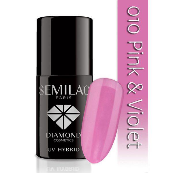 UV Hybrid Semilac Pink and Violet