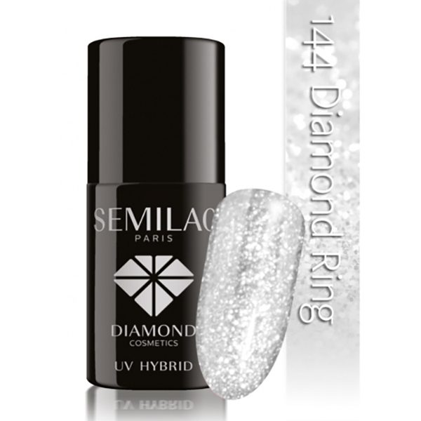 UV Hybrid Semilac Diamond Ring