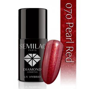UV Hybrid Semilac Pearl Red