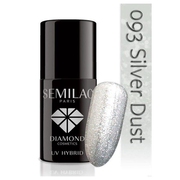 UV Hybrid Semilac Silver Dust