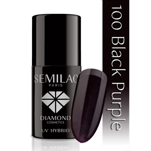UV Hybrid Semilac Black Purple