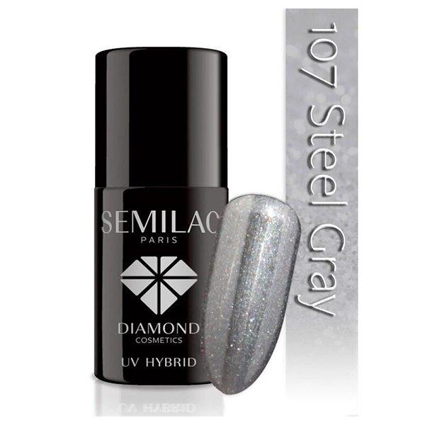 UV Hybrid Semilac Steel Gray