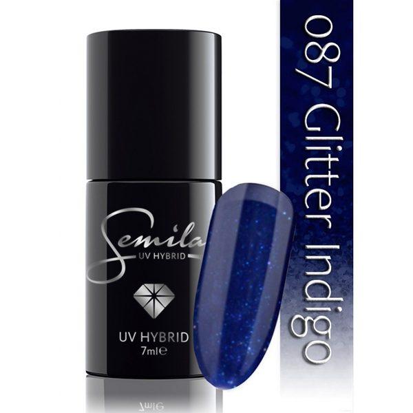 UV Hybrid Semilac Glitter Indigo