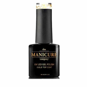 The Manicure Company 18ct gold gel polish top coat 8ml