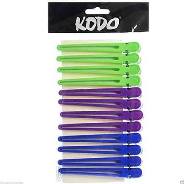 Kodo Duck Bill Clips Multi Coloured 12pk