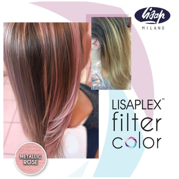 Lisaplex Filter Color Metallic Rose The Hair And Beauty