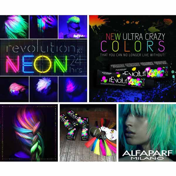 Alfaparf Revolution Neon Crazy Blue 90ml The Hair And Beauty Company