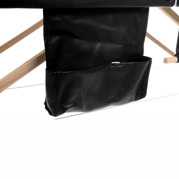 Foldable Massage Bed Black White 2