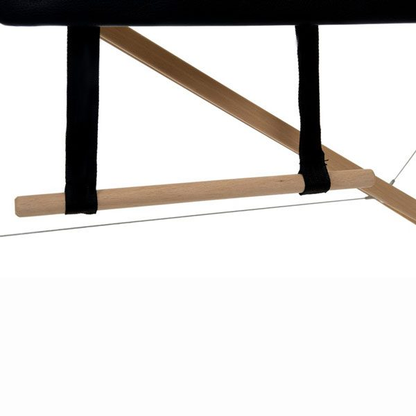 Foldable Massage Bed Black White 3
