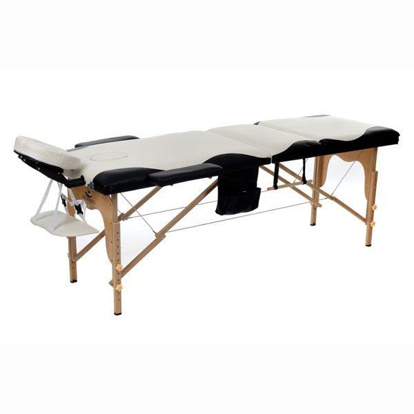 Foldable Massage Bed Black_White