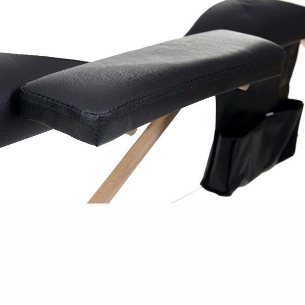 Foldable Massage Bed Black White 8