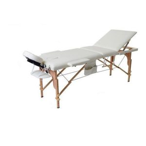 THBC Portable Wooden Massage Bed Beige 004915