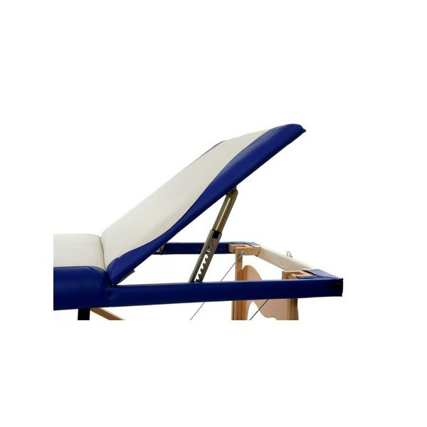 3 Section Foldable Massage Bed Blue White2