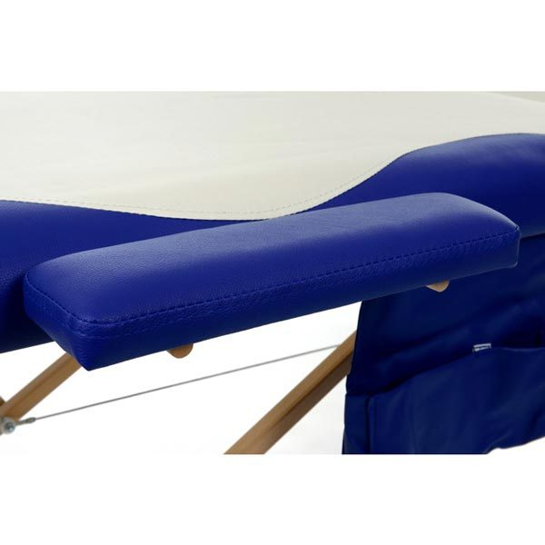 3 Section Foldable Massage Bed Blue White7