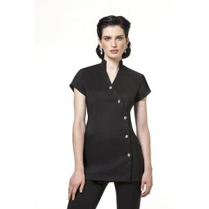 Buttercups Diamante Buttons Tunic Black