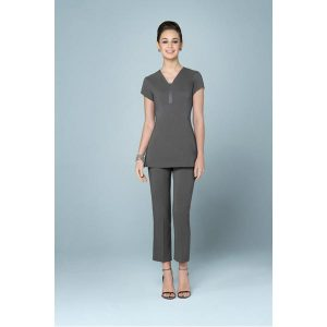 Buttercups Satin Tieback Tunic Grey