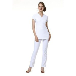 Buttercups Satin Tieback Tunic White