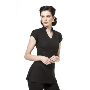 Buttercups Swan Neck Tunic Black