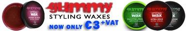 Gummy waxes