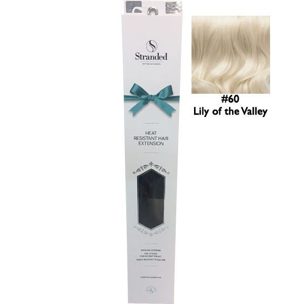 Stranded Hair Extensions 18 inch One Piece Curly 60