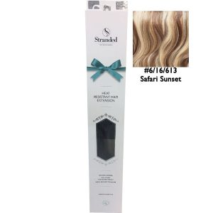 Stranded Hair Extensions 18 inch One Piece Curly 6 16 613