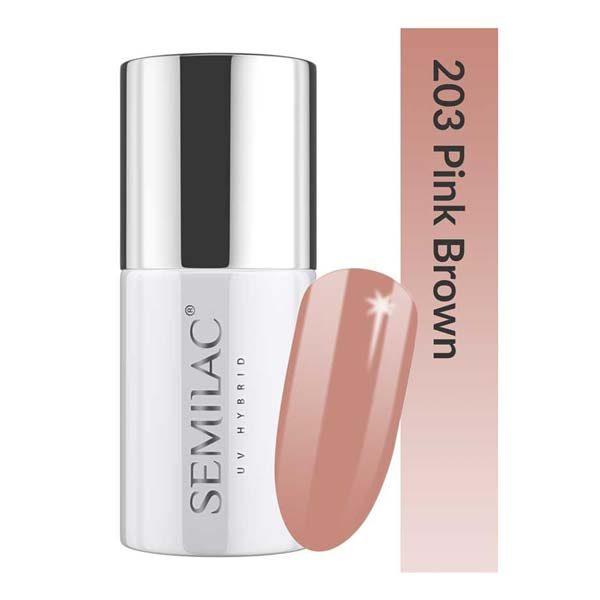 UV Hybrid Semilac Business Line 203 Pink Brown