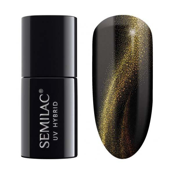 uv hybrid semilac cat eye 3d gold 635