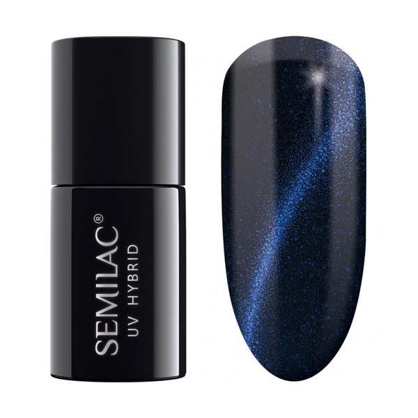 uv hybrid semilac cat eye blue 613