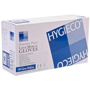 Hygieco Latex Powder Free Medical Gloves Medium