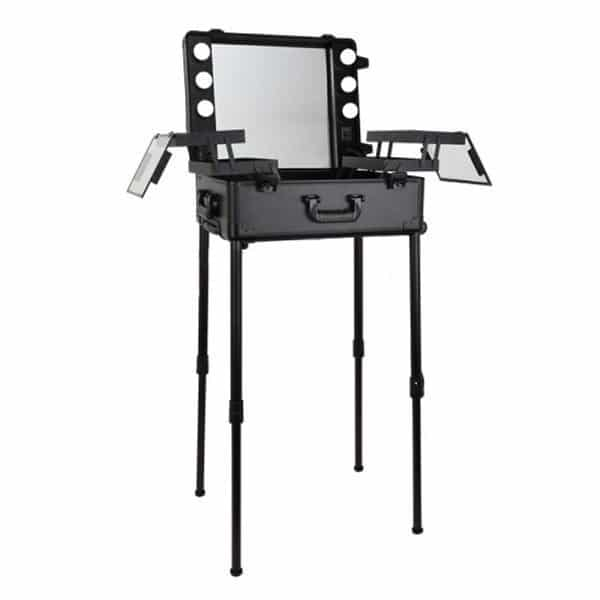 THBC Mobile Makeup Station Black