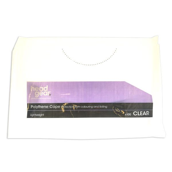 Headgear Disposable Capes Clear