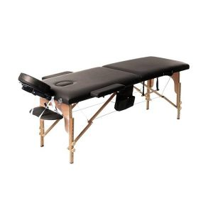 2 Part Portable Wooden Massage Bed black